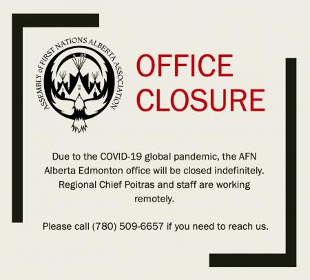 AFN Alberta Region Office Closure: March 17