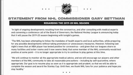 NHL postponement