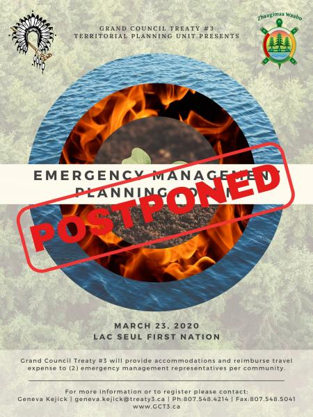 Emergency Management Planning Forum Postponement
